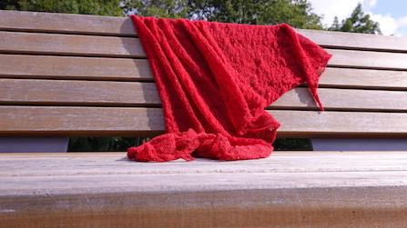 """der rote Schal """"3x3"""""""